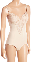 Joan Vass Nude Embroidered Lace Bodysuit - Plus Too