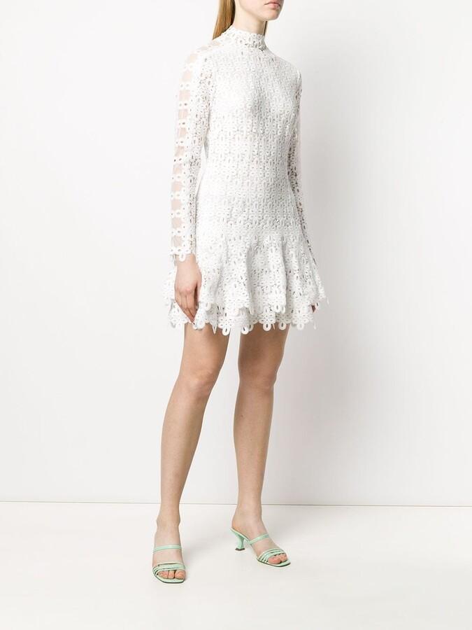Thumbnail for your product : Jonathan Simkhai Geometric-Lace Tiered Mini Dress