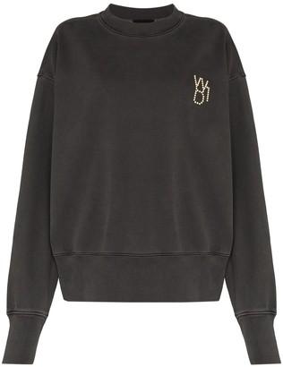 we11done Dot-Logo Crew-Neck Sweatshirt