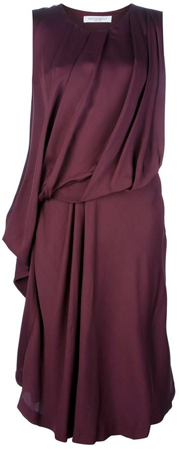 Viktor & Rolf gathered sleeveless dress