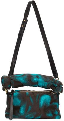 Dries Van Noten Black and Blue Fat Baby Bag