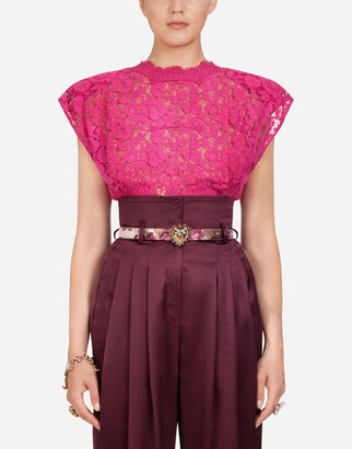 Dolce & Gabbana Sleeveless Cordonnet Lace Top