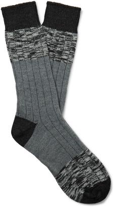 Melange Home The Workers Club Striped Merino Wool-Blend Socks