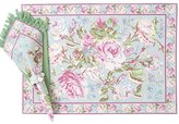 April Cornell Sage Victorian Rose Place Mat