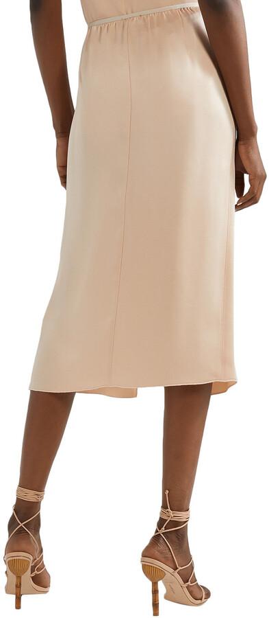 Thumbnail for your product : Forte Forte Satin-crepe Midi Skirt