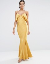 Asos Cami Ruffle Front Maxi Dress with Fishtail