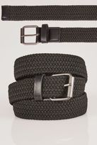 Yours Clothing BadRhino Mens Stretch Woven PU Trims Belt Fashion Accessory