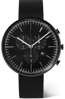 Uniform Wares M42 Chronograph Precidrive Stainless Steel And Rubber Watch