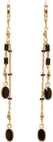 Isabel Marant Gold and Black Chain Earrings