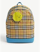 Burberry Nico sun print check backpack