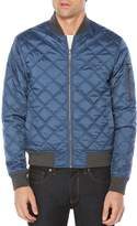 Original Penguin Reversible Diamond-Quilted Baseball Jacket