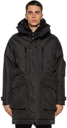 DSQUARED2 DOUBLE HOODED TECH CANVAS PARKA