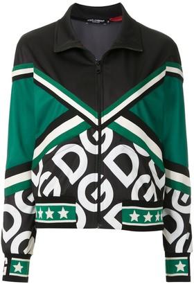 Dolce & Gabbana Logo Print Track Jacket