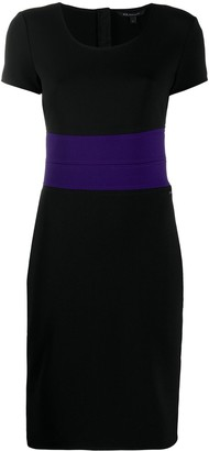 Armani Exchange Fitted Contrast Stripe Dress