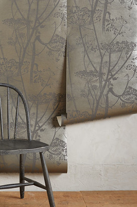 Anthropologie Queen Anne's Lace Wallpaper By in Grey Size ALL