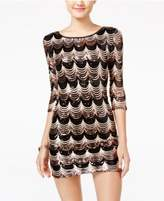 Crystal Doll Juniors' Sequined Bodycon Dress