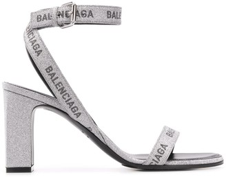 Balenciaga Glitter Logo 80mm Sandals