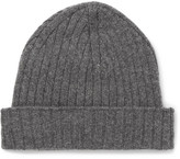 A.P.C. Ribbed Wool Beanie - Gray