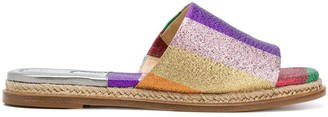 Alexandre Birman Colour Block Espadrille Slides