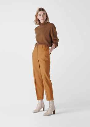 Tapered Button Front Trouser