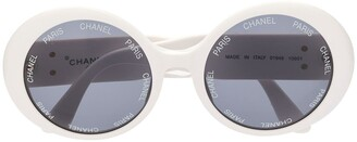 Chanel Pre Owned CC logo round sunglasses