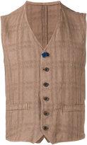 Lardini classic waistcoat - men - Hemp/Polyester - 48