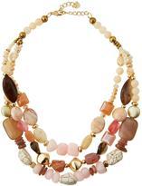 Nakamol Triple-Strand Beaded Stone Necklace, Multi