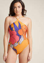 ModCloth Tranquil Tropics One-Piece Swimsuit in S