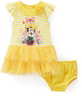 Children's Apparel Network Minnie Mouse Tiered Dress & Diaper Cover - Infant & Toddler