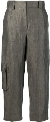 Eleventy Flap Pocket Tapered Trousers