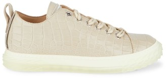 Giuseppe Zanotti Braky Crocodile-Embossed Leather Sneakers