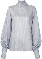 Bassike stripe funnel neck top - women - Silk/Viscose - 6