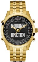 GUESS GUESS? Men's Gold-Tone Analog and Digital Chronograph Watch