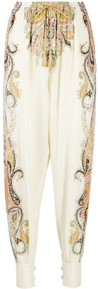 Etro Paisley-Print Cuffed Trousers
