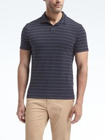 Banana Republic Slim Luxury-Touch Thin Stripe Polo