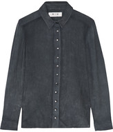 MiH Jeans Nubuck Shirt - Dark gray