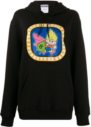 Moschino graphic print hooded sweater