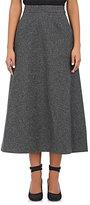 Saint Laurent Women's Wool Felt Midi-Skirt-DARK GREY, GREY