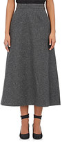 Saint Laurent WOMEN'S WOOL FELT MIDI-SKIRT