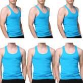 Godsen Men's 6 Pack A-Shirt Sleeveles Undershirts Tank Top L
