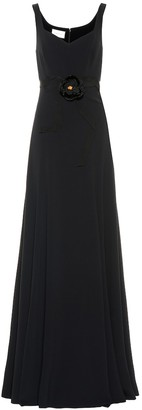 Gucci Floral-embellished jersey gown