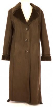 Balmain Brown Shearling Coat for Women