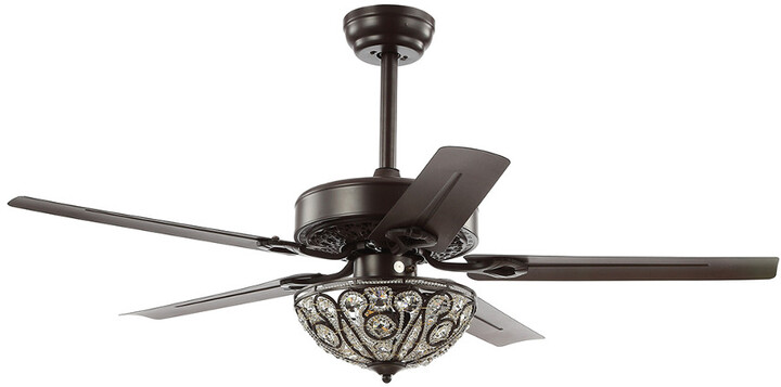 Thumbnail for your product : Jonathan Y Designs Ali 52In 3-Light Wrought Iron Led Ceiling Fan With Remote