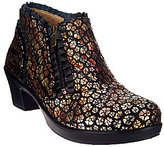 Alegria Leather Booties with Side Zipper - Hannah