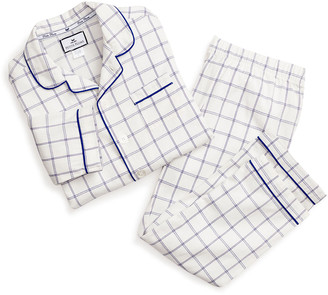 Petite Plume Kid's Tattersall Check Two-Piece Pajama Set, Size 6M-14