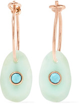 Pascale Monvoisin Orso 9-karat Rose Gold, Chrysoprase And Turquoise Earrings - one size