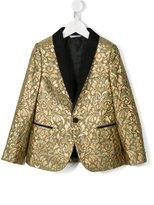 Dolce & Gabbana jacquard blazer - kids - Silk/Lurex/Polyamide/Viscose - 10 yrs