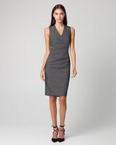 Le Château Tweed Viscose Blend V-Neck Shift Dress