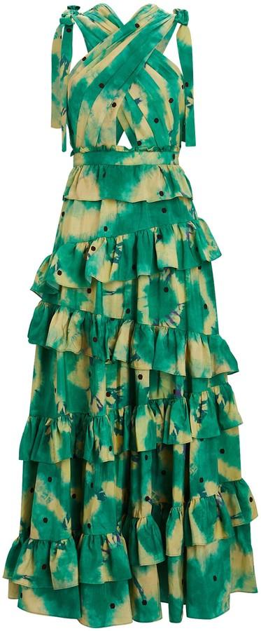 Ulla Johnson Zahra Tie-Dyed Silk Gown
