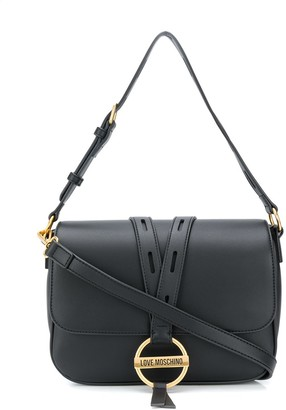 Love Moschino Round Buckle Shoulder Bag